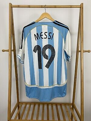 Lionel Messi Argentina 2006 Home AFA Soccer Futbol Adidas Jersey Size  image