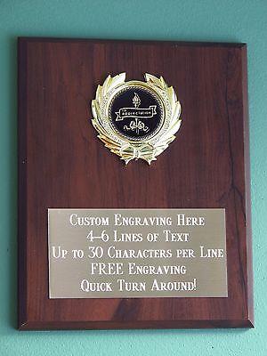 Appreciation Award Plaque 8x10 Trophy FREE custom engraving Appreciation Award Plaque