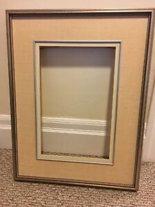 Wood and canvas frame with no glass