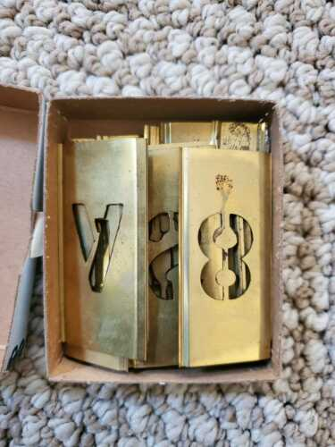 Stencil Set Marking Lockedge Adjustable Brass Complete Alphabet Plus 0-9 Numbers