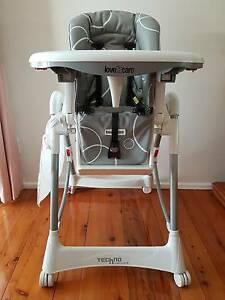 """""""Grey Swirl"""" Love-N-Care Techno High Chair in excellent condition Baulkham Hills The Hills District Preview"""