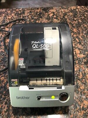 Brother Ql-500 Label Thermal Printer With Cables And Roll Loaded Works Great