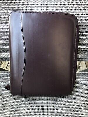Franklin Covey Planner - Burgundy - Zip Around - 3 Rings - 10l X 8w