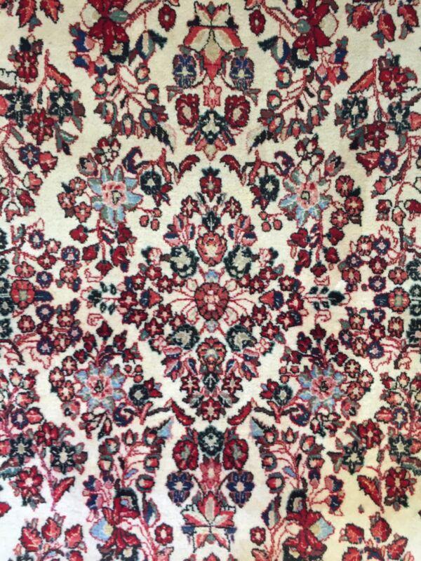 Gorgeous Ghissabad - 1940s Antique Oriental Rug - Floral Carpet - 8.9 X 11.10 Ft