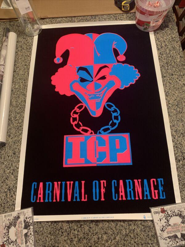 ICP Carnival Of Carnage Promo Poster Velvet Insane Clown Posse Esham Rare