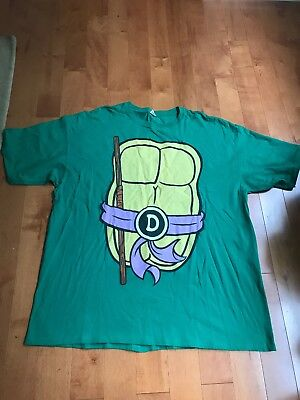 Tmnt Teenage Mutant Ninja Turtle Purple Donatello Shirt Mens XXL Costume Cosplay (Ninja Turtle Costume Shirt)