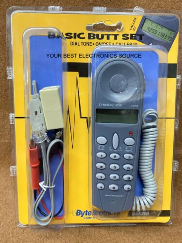 NEW Byte Brothers BSX200 Basic Linemans Butt Set w/ Caller ID