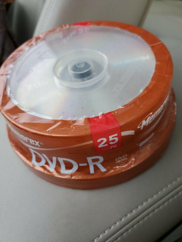 Memorex DVD-R 25 Pack Spindle 16x 4.7 GB 120 min Factory Sealed
