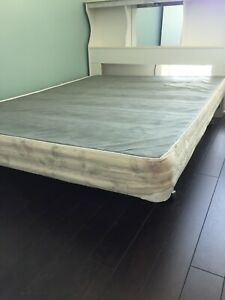 Adjustable queen or double sized bed frame and box spring