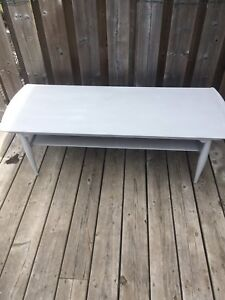 Grey chalk painted table