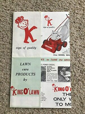 1960s  King 0 Lawn,  care equipment,  original sales literature. Lawn Care Equipment