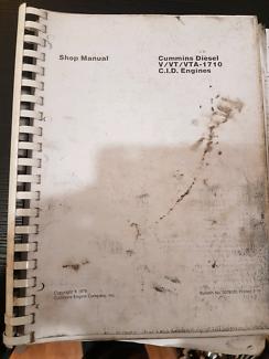 Cummins VTA-1710 Full shop repair manual