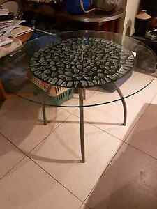 Glass top breakfast table/dining Coopers Plains Brisbane South West Preview