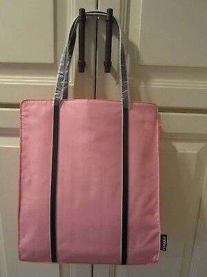 """CLINIQUE Large Tote Shopping Bag 12.5"""" x 15"""" x 3.5"""" Pink/Orange NEW"""