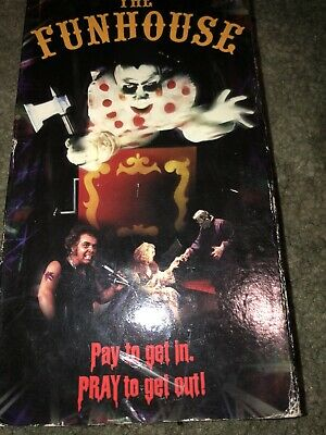 The Funhouse VHS Tape 80's Horror Cult Classic Rare Tobe Hooper