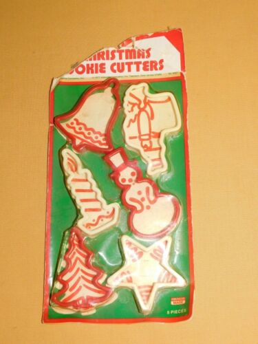 VINTAGE KITCHEN 1977 CHRISTMAS COOKIE CUTTERS 6 PIECES UNUSED IN PACKAGE