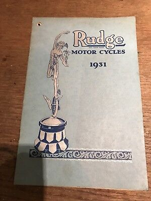 Rudge Whitworth Motorcycle 1931 Sales Catalogue Ulster Special 350 500 Tt Etc