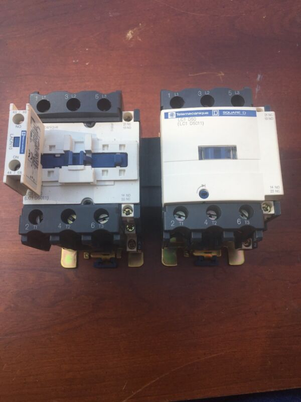 Square D Telemecanique Mechanically Interlocked 70 Amp Starter /Contactors