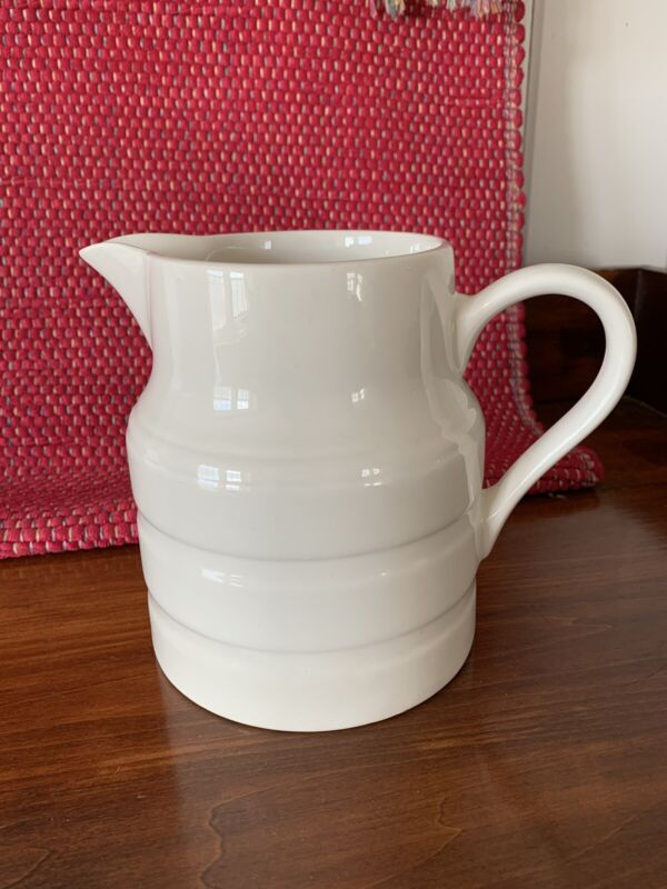 Vintage Lord Nelson Pottery White Pitcher Made In England  4-74