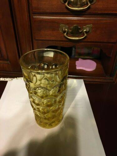 Imperial Provincial #1506 /Whirlpool Sunshine Yellow Flat Iced Tea Tumbler Glass