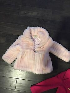 Size 5 T girls pink fur jacket