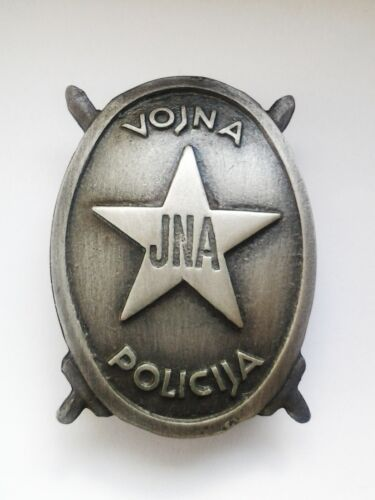 YUGOSLAV JNA ARMY MILITARY POLICE CHEST BADGE
