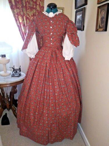 SALE SAVE 15% Civil War Reenactment Fancy Day Dress Size 26 WAS $200 NOW $169