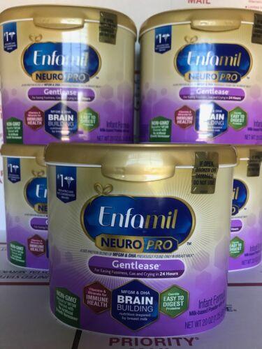 (5 tubs) ENFAMIL NEUROPRO GENTLEASE 20 OZ