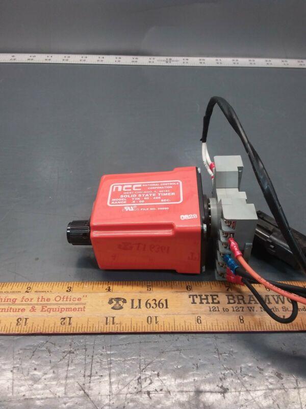 NOS NCC T3K-60-466 Solid State Timer 0.6-60sec, 12vdc, w/Base. NABI 600-1607-010