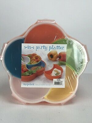 Snap-Lock 5-in-1 Plastic Party Platter - Plastic Party Platters