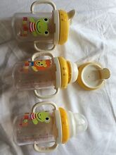 Baby cups bottles with teat / straw / lids Hope Valley Tea Tree Gully Area Preview