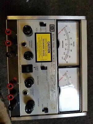 Hp Keysight 6227b Dual Dc Power Supply 0-25v 0-2a