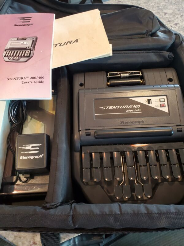Stentura 400 Electric Court Reporter Student Writer with Carry Case