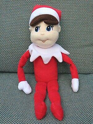 Elf on the Shelf Plush Boy Doll Brown Hair Christmas Tradition Stuffed holiday