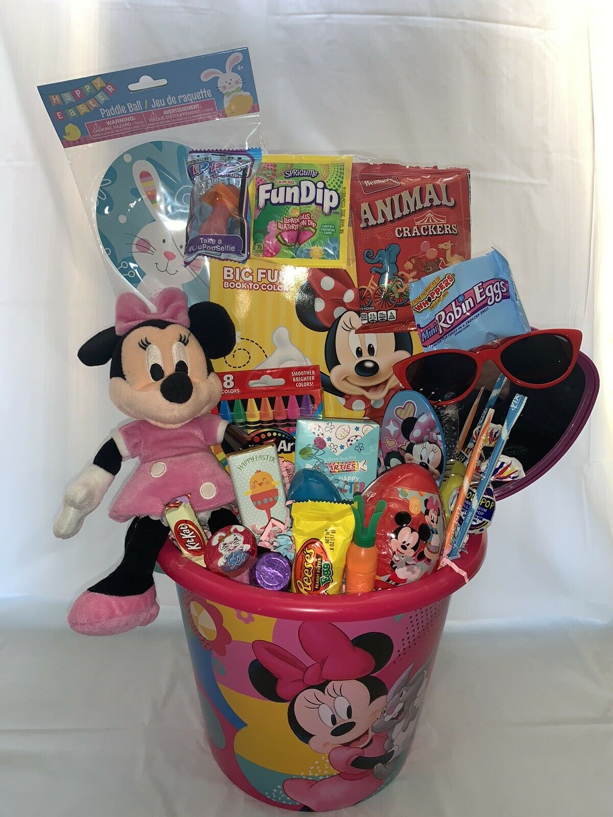 🌞LARGE Kids Girl Fun Filled Minnie Mouse and Candy Easter