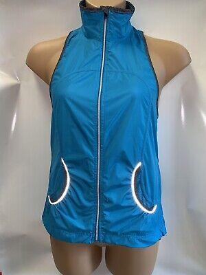 LULULEMON Record Breaker Vest Women's 6 Sprinkler Blue Water Resistant Run EUC