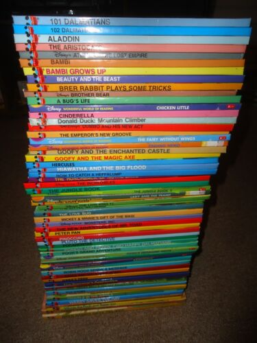 Lot of 61 Disney's Wonderful World of Reading HC Books Pooh Lion King Toy Story