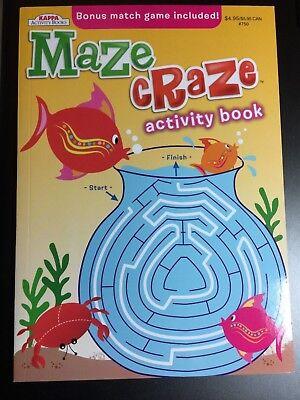 KAPPA MAZE CRAZE ACTIVITY BOOK FOR KIDS BRAND NEW BONUS MATCH GAME - Kids Maze
