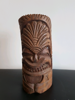 Carved timber tribal statue