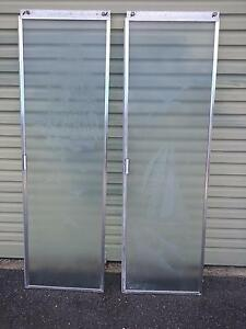 Vintage coastal frosted glass shower screen doors. Tugun Gold Coast South Preview