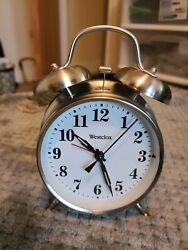 Westclox Twin Bell Alarm Clock with LED light