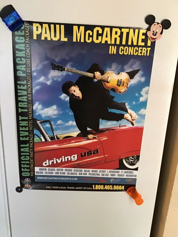 Paul McCartney In Concert Driving USA Poster