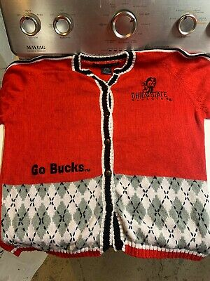 Vintage Ohio State Ugly Christmas Sweater BRUTUS cheesy Tacky size Small🎄🎅🎄🏈 ()