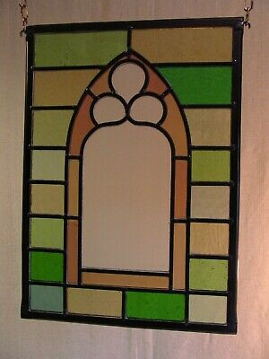 Newly crafted TRADITIONAL Stained Glass Window Panel GOTHIC WINDOW 252mm x 351mm