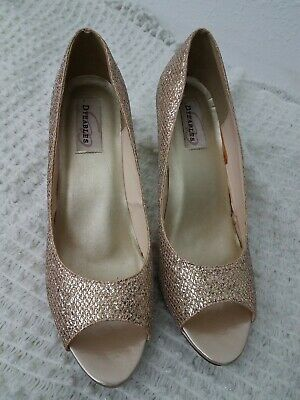 Dyeables 11B Glitter Peep Toe Heels Shoes  Champagne Wedding (Dyeables Dyeables Bridal Shoes)