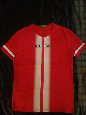 New Iceberg Men's Red T Shirt Medium