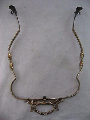 Oil Lamp Chandelier Parts Antique Brass Hanging, Victorian 1800's