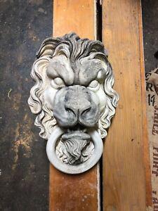 Roman Greek Lion Head Stone Fountain Garden Statue Lionhead