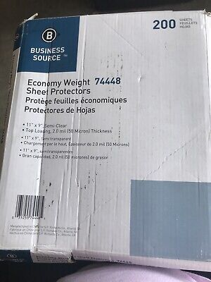 Business Source Sheet Protectorstop Load2.0mil 200pack Bsn74448