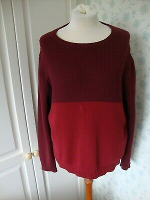 MENS HYMN LONDON LONG SLEEVED JUMPER SWEATER SIZE XL EXTRA LARGE PURPLE RED